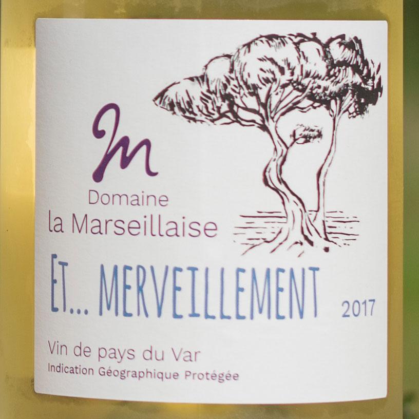 Etiquette vin blanc Et... merveillement