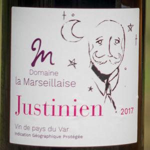 Etiquette vin rouge Justinien