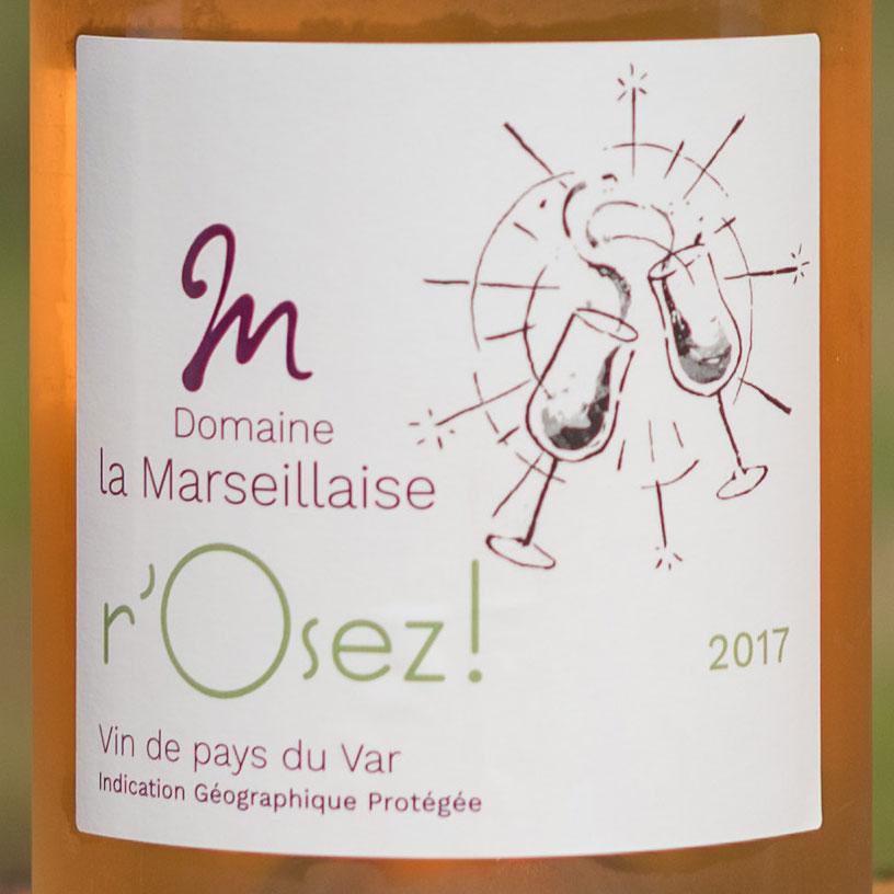 Etiquette vin r'Osez